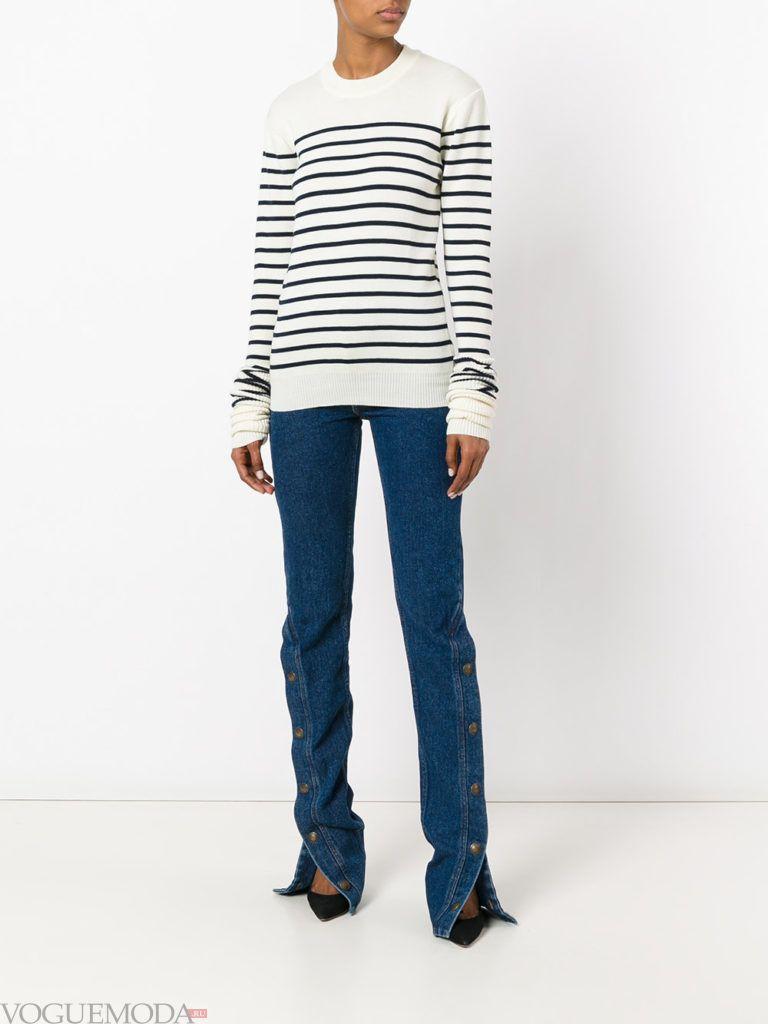 модные джинсы прямые