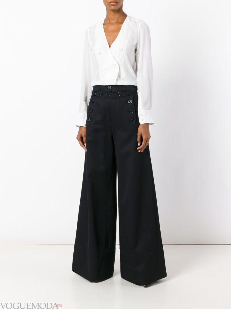 модные брюки клеш