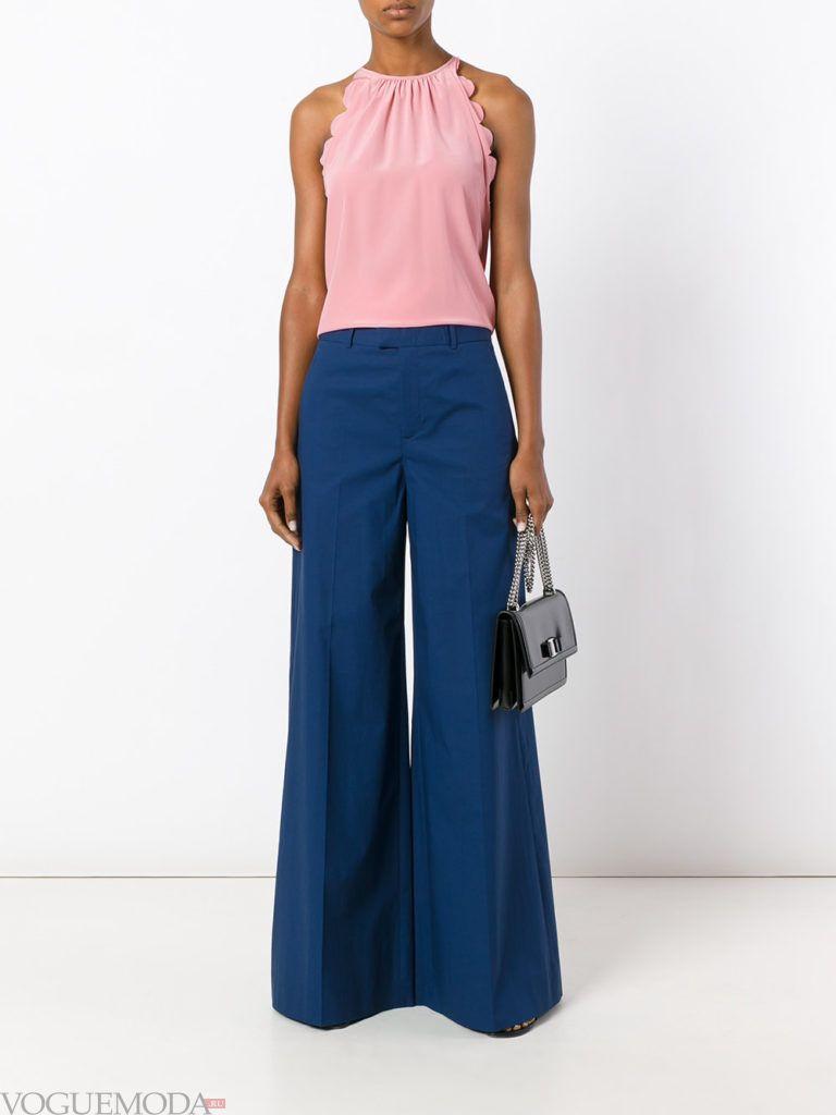 модные брюки синие