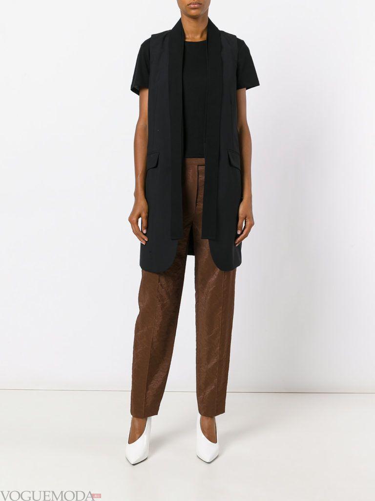 модные брюки коричневые