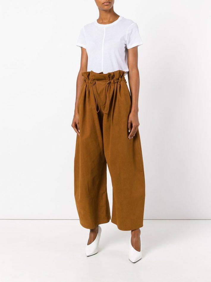 Модные тенденции осень зима 2019 2020: брюки рыжие