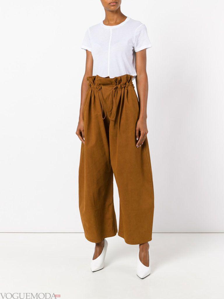 модные брюки рыжие