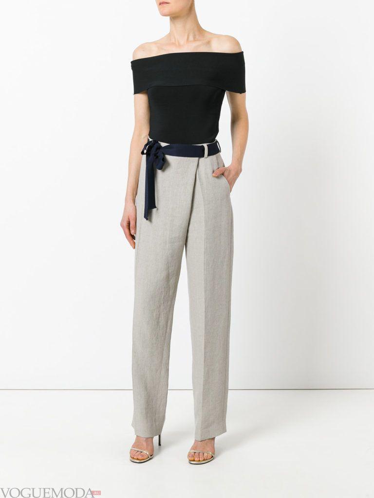 модные брюки серые