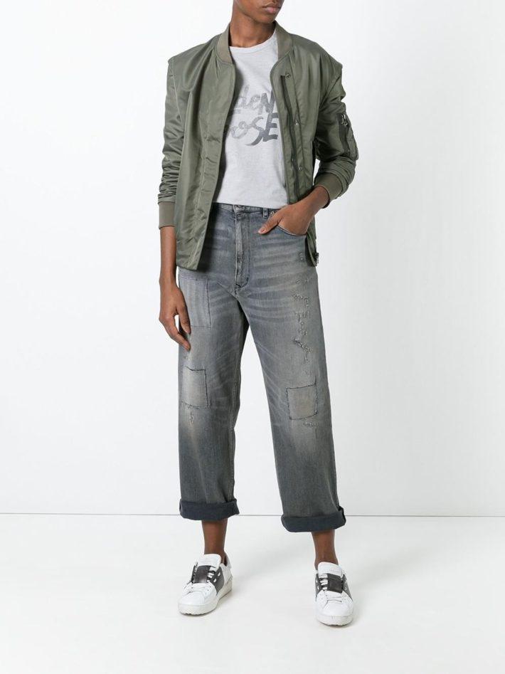 Модные тенденции осень зима 2021: джинсы серые
