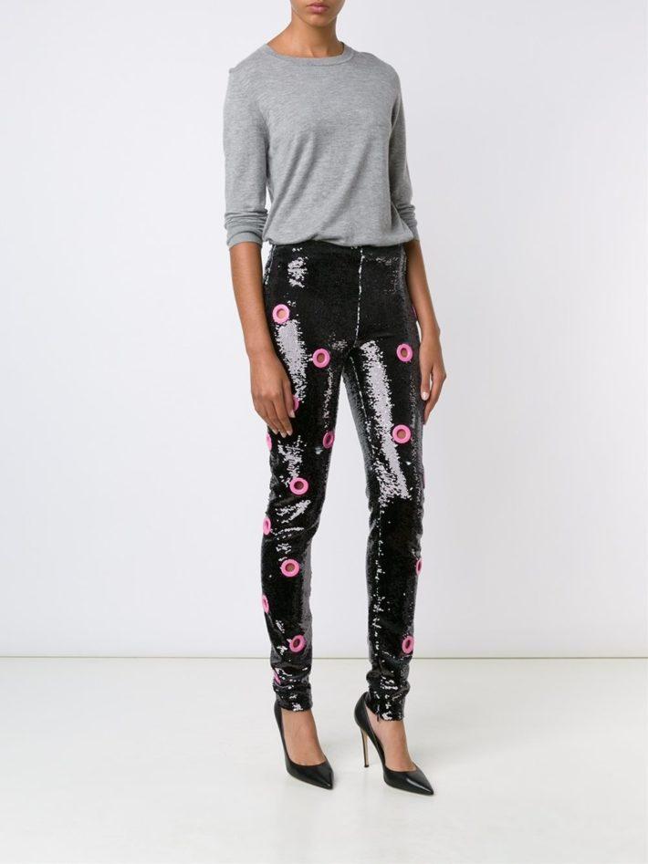 модные брюки блестящие