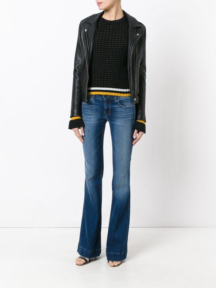 Модные тенденции осень зима 2021: джинсы клеш