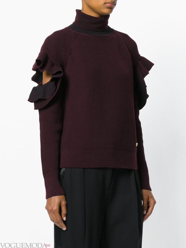 свитер бордо