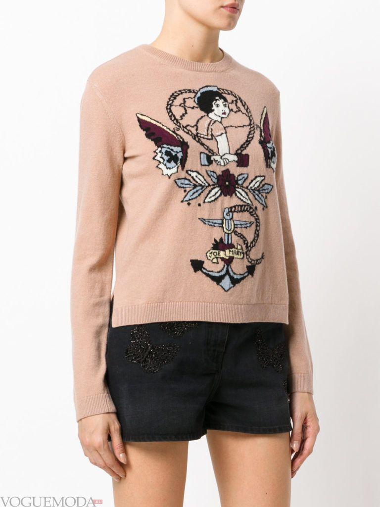 свитер беж