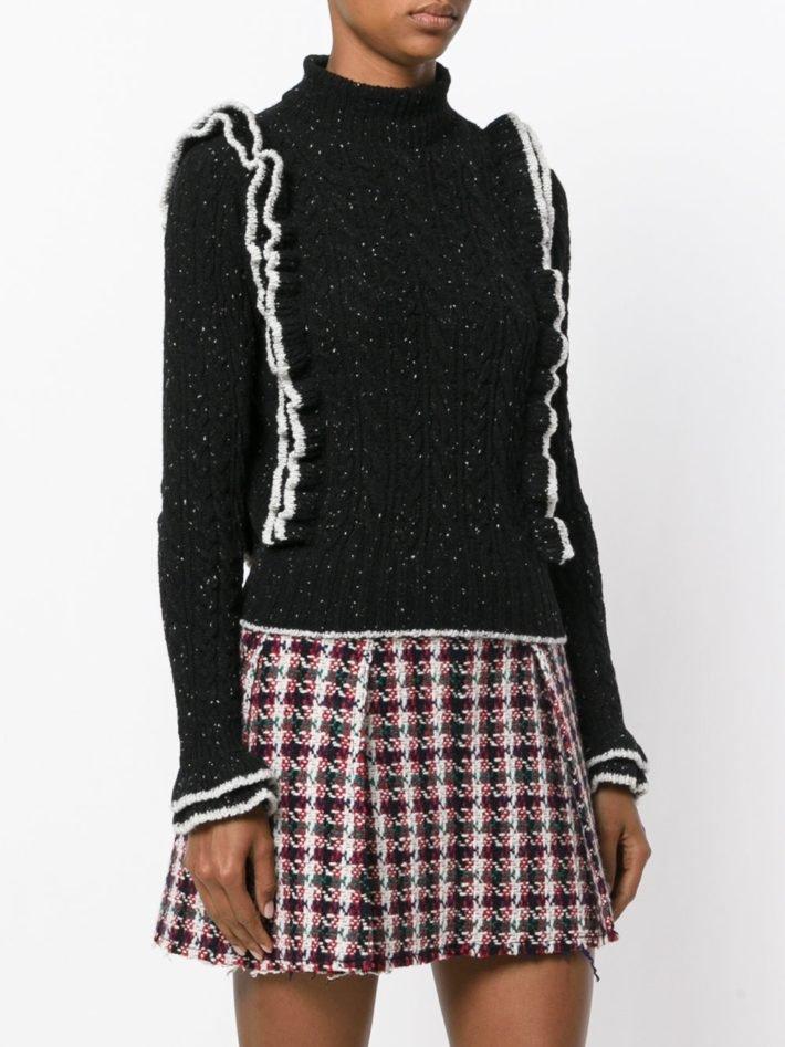 свитер черный