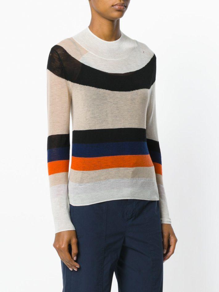 свитер полосатый