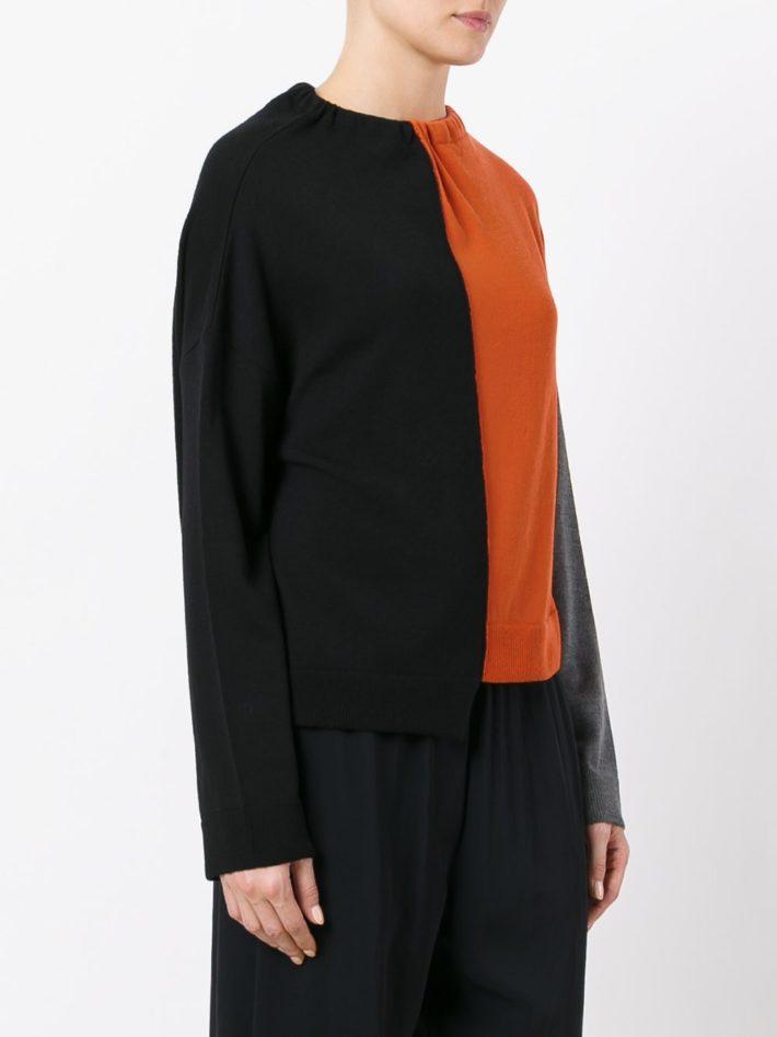 свитер двухцветный