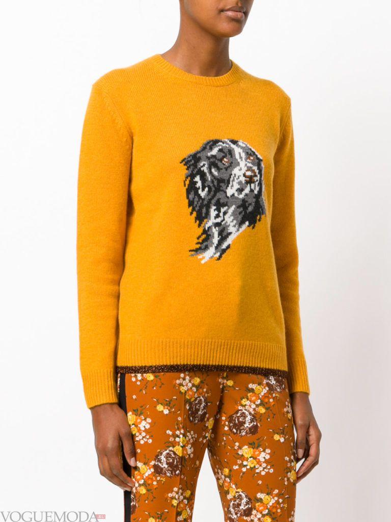 свитер желтый