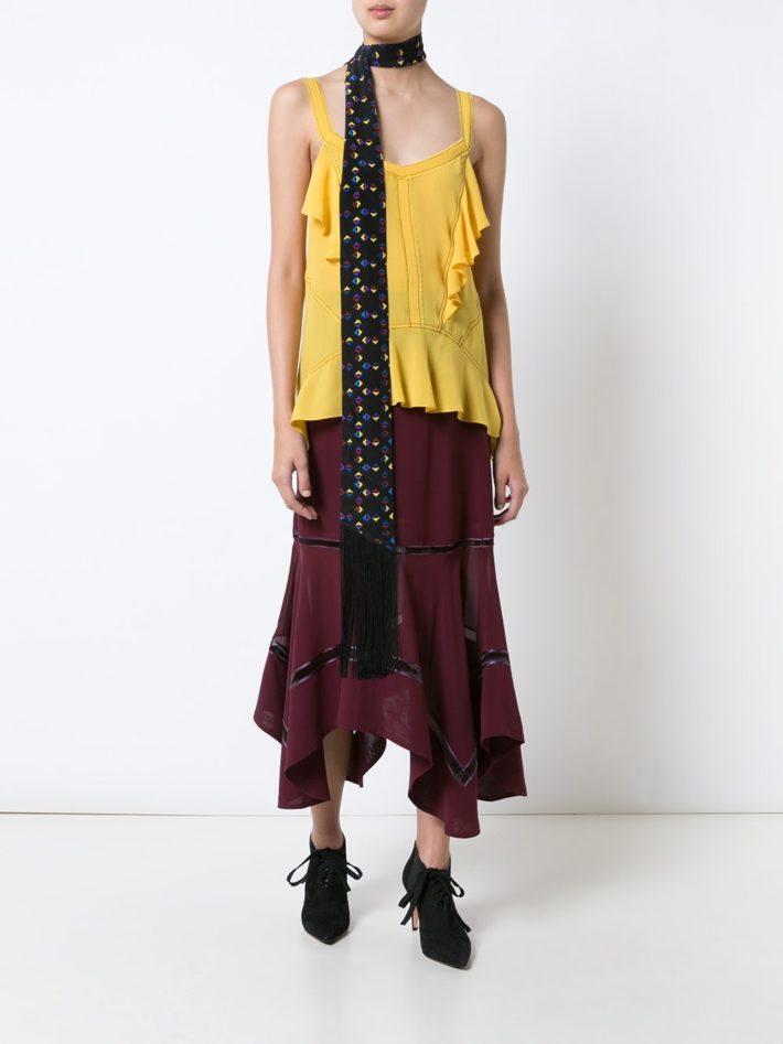 модная юбка бордовая