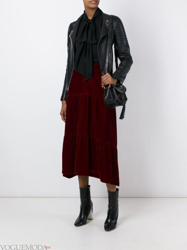 модная юбка длинная