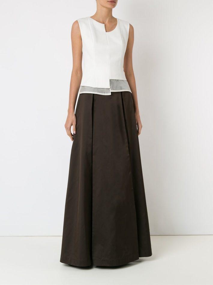 модная юбка темная