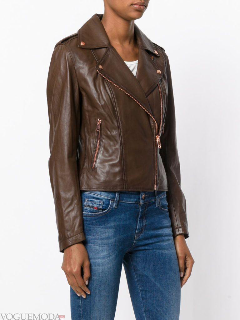 модная куртка шоколад