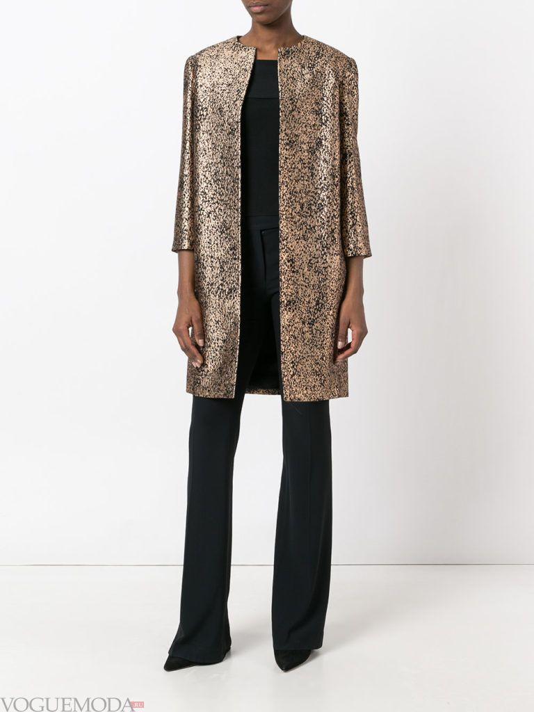 модное пальто блестящее