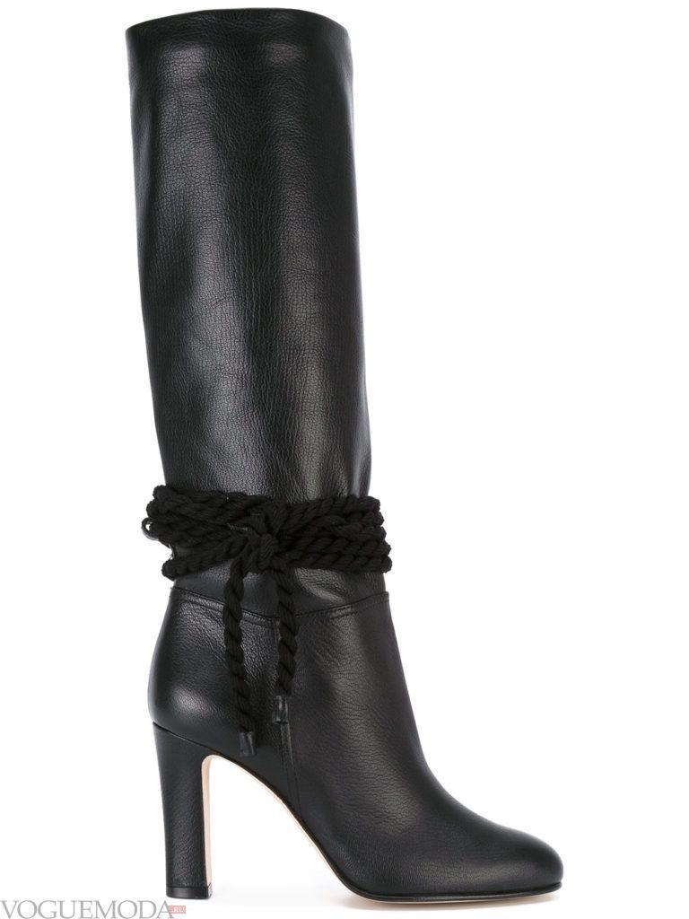 модные сапоги черные