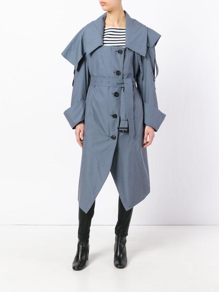 Модные тенденции осень зима 2020 2021: пальто голубое