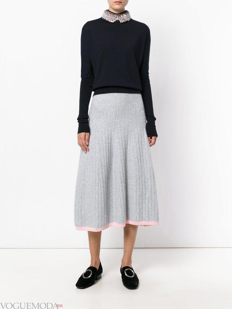 плиссированная юбка светлая