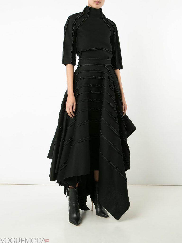 юбка макси черная