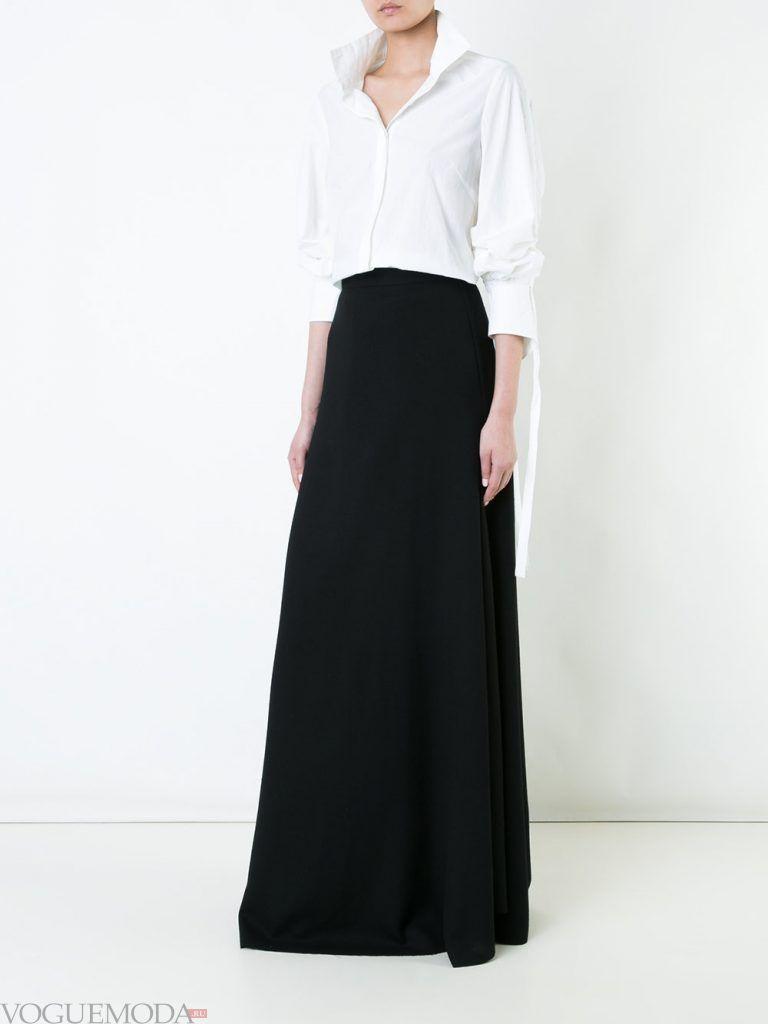 юбка макси темная