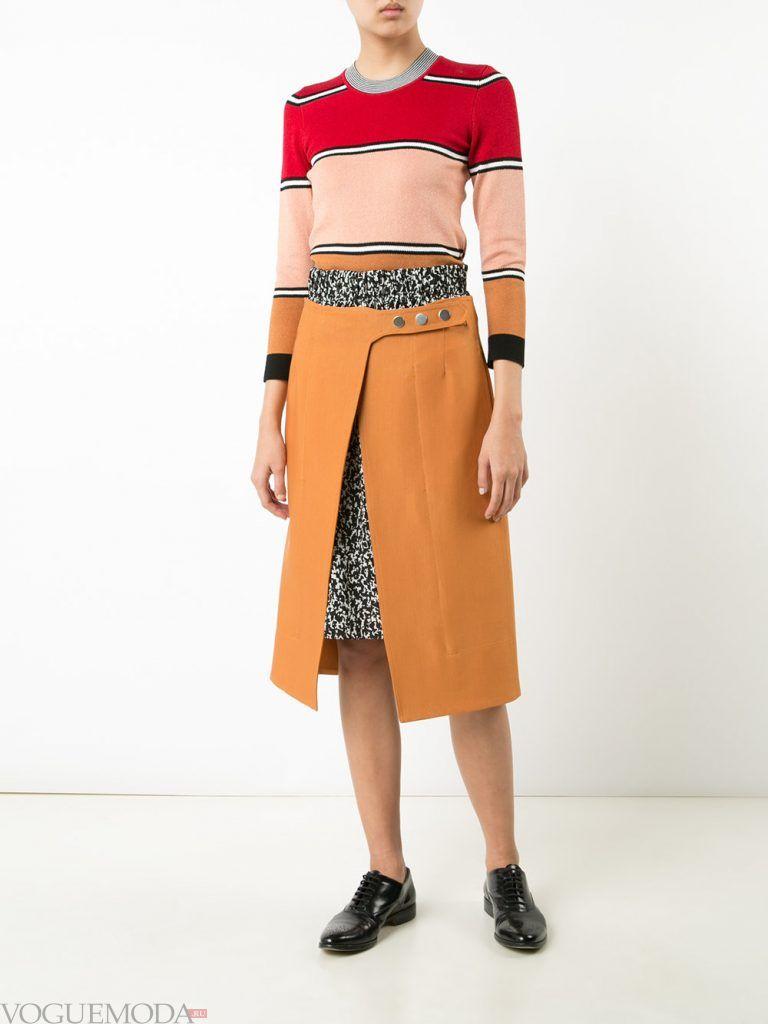 шерстяная юбка рыжая
