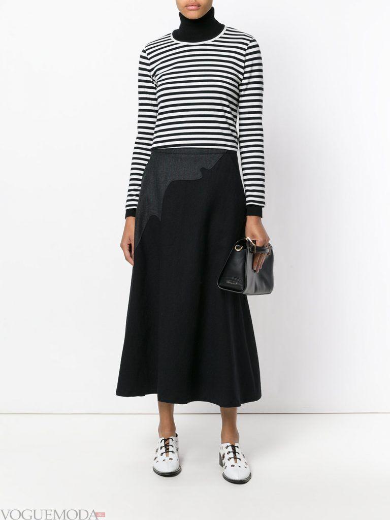 шерстяная юбка черная