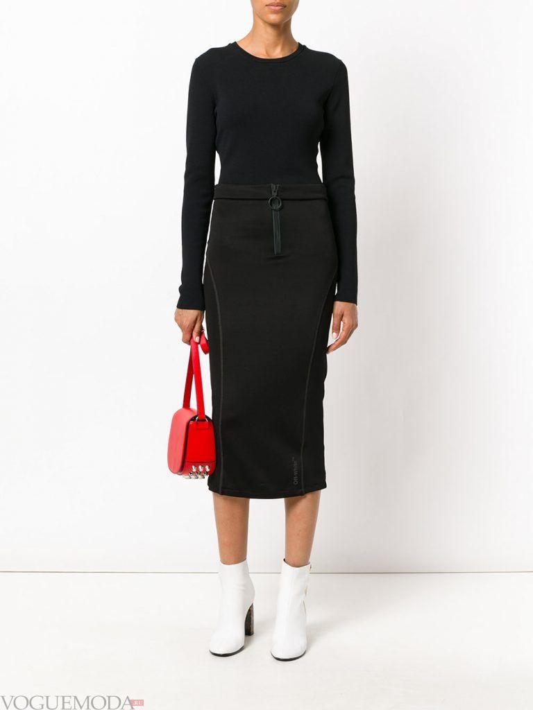 юбка карандаш черная