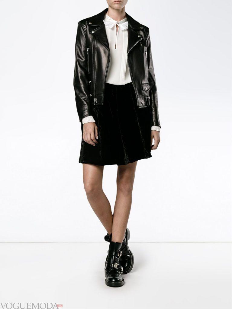 модная юбка черная