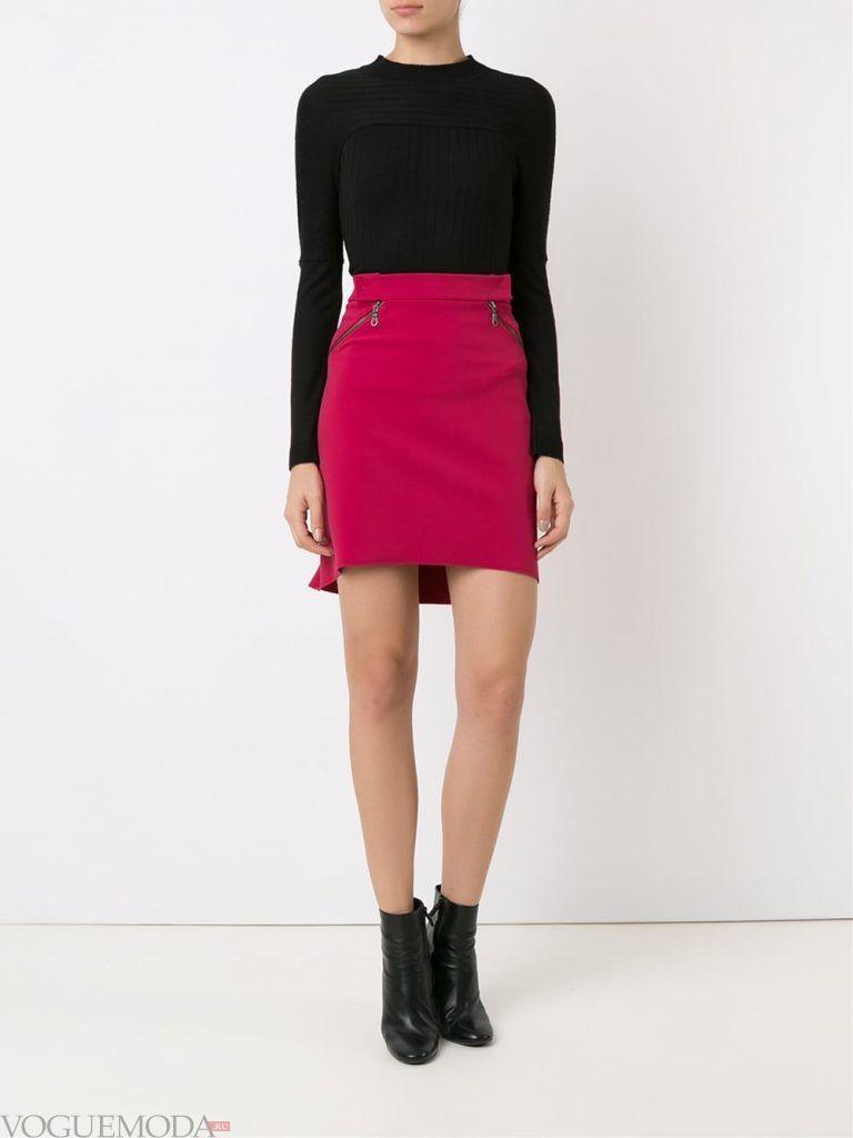модная юбка розовая