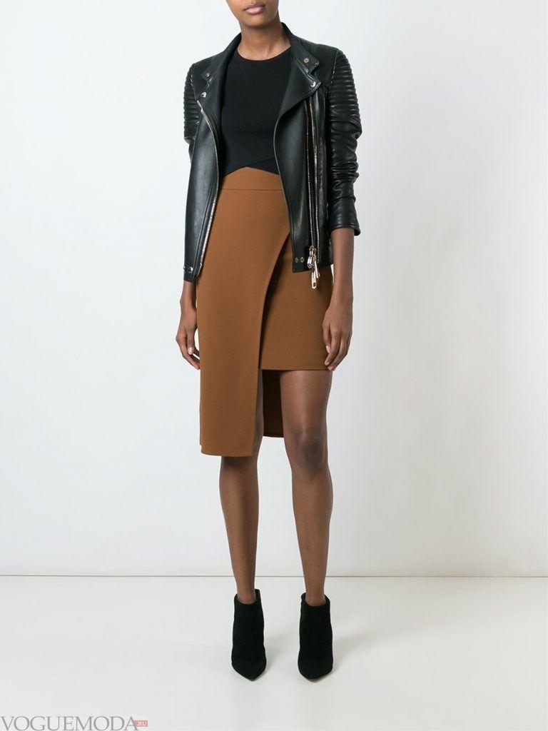 модная юбка мокко