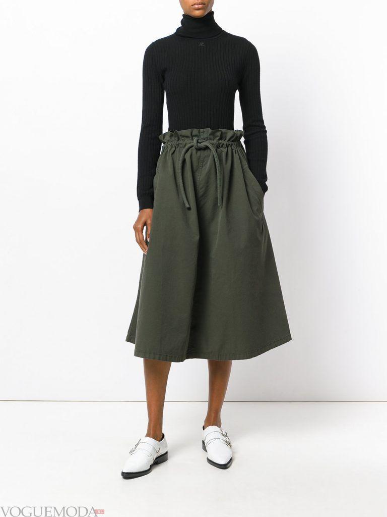 модная юбка зеленая