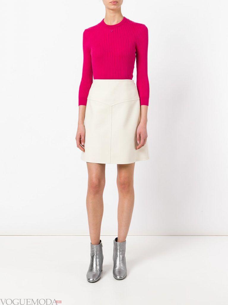 модная юбка белая