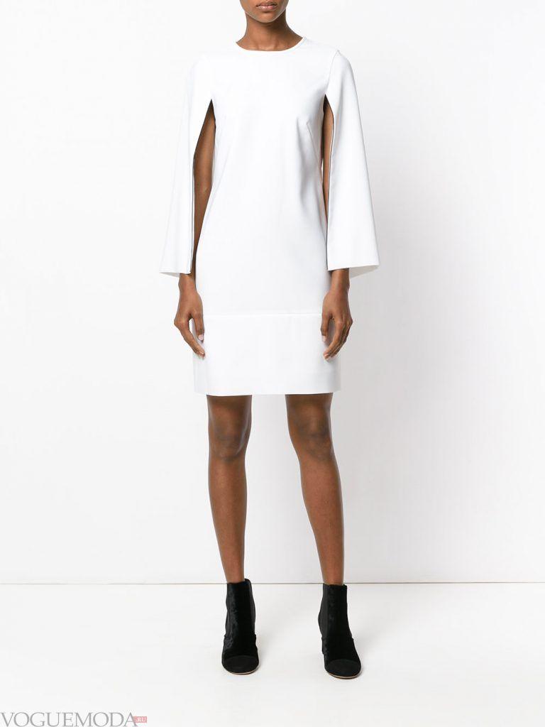 белое вечернее платье с длинными рукавами