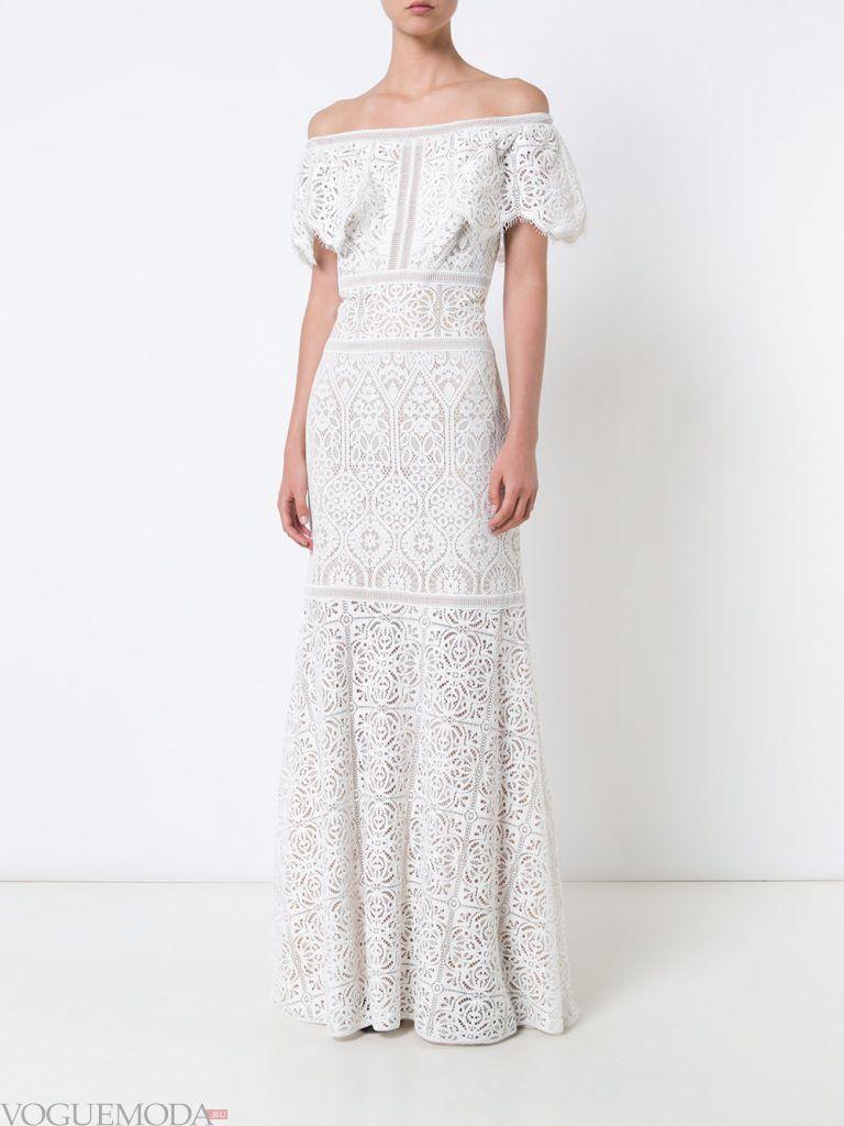 белое вечернее платье кружевное