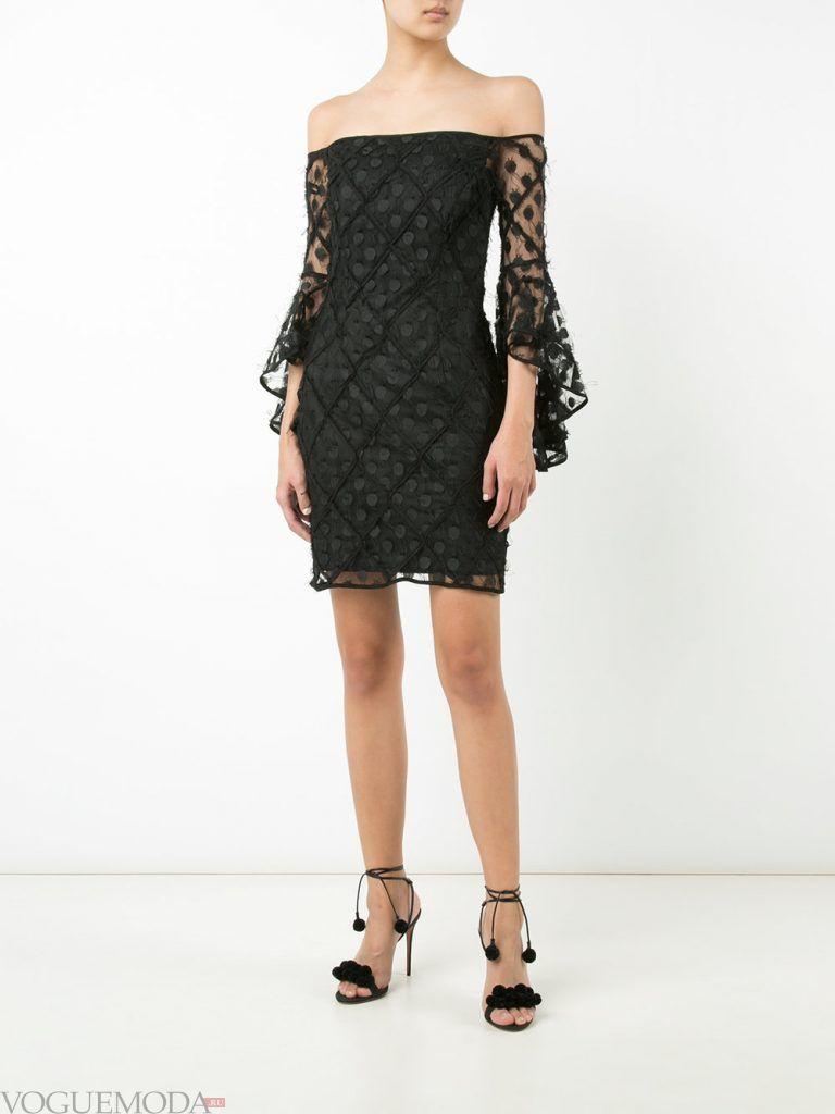 вечернее платье без бретелей черное