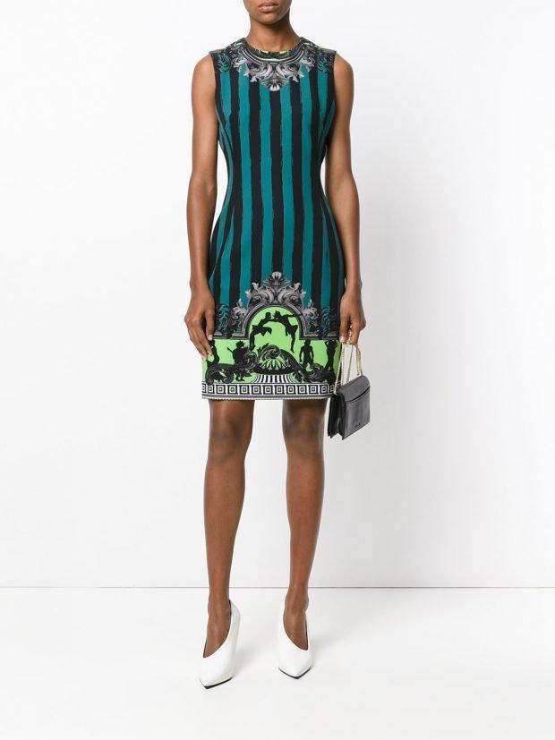 Модные вечерние платья: полосатое