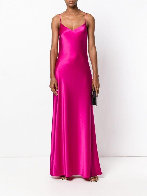 Модные вечерние платья: фуксия