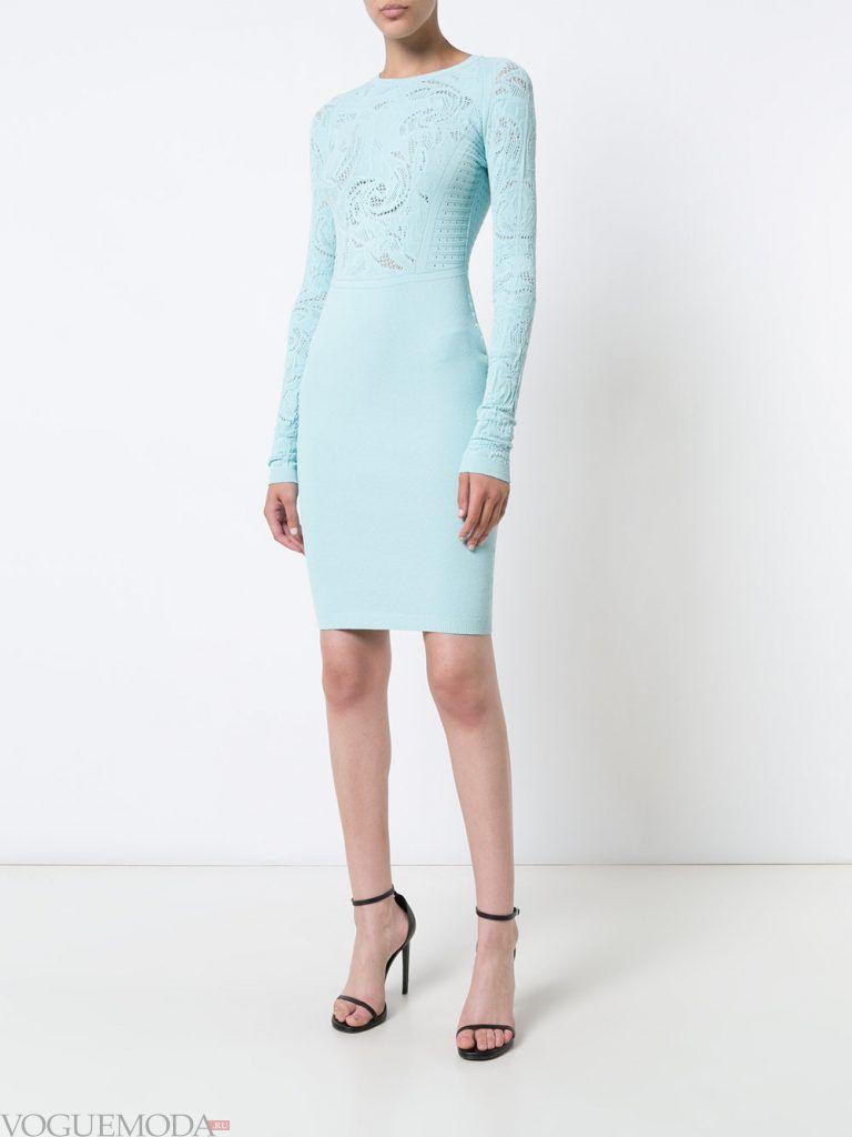 вечернее платье голубое