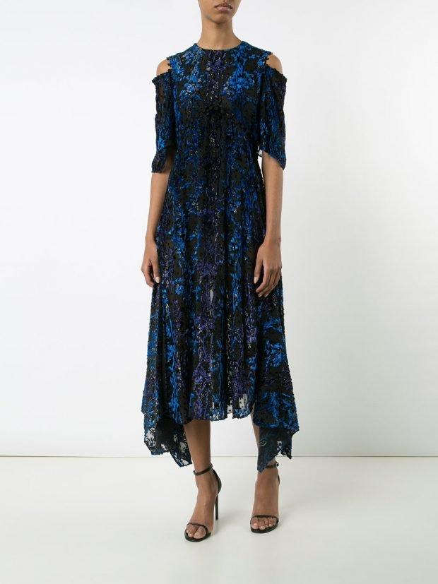Модные вечерние платья: с орнаментом