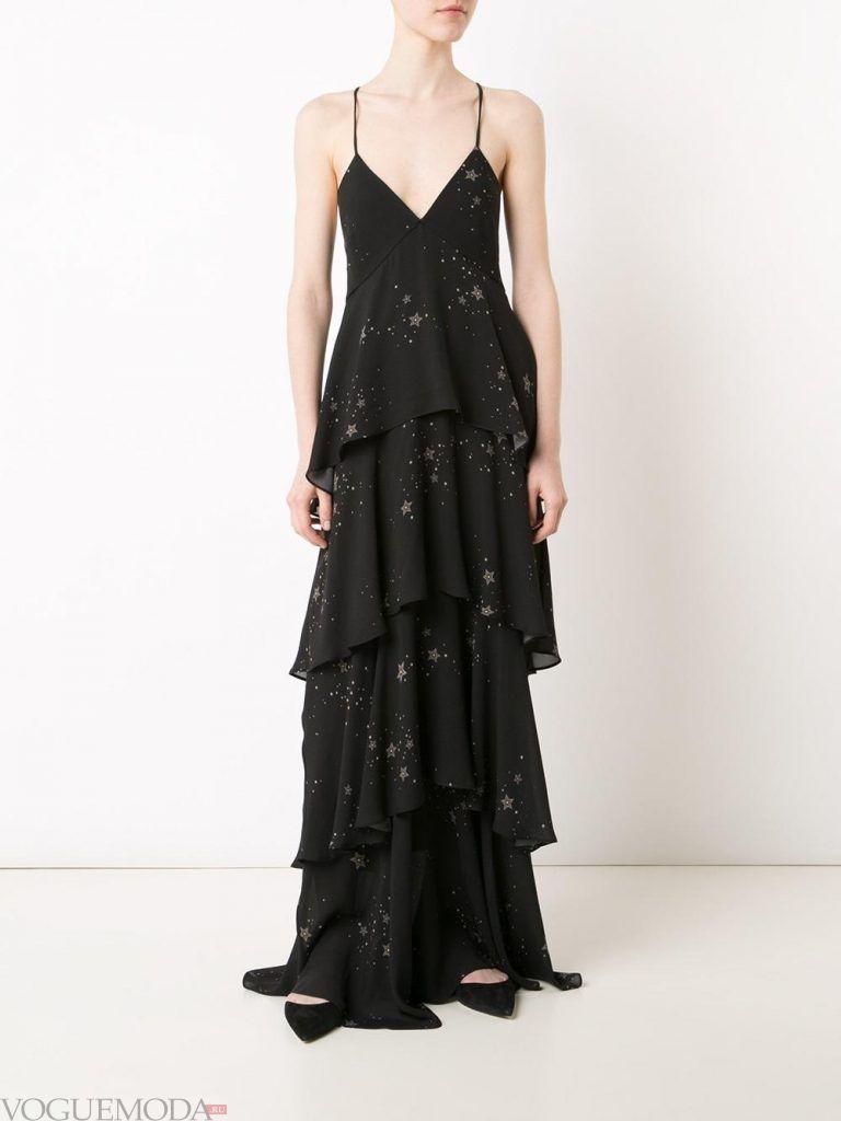 вечернее платье многослойное