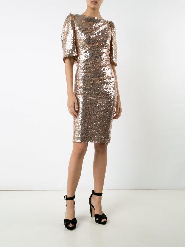 Модные вечерние платья: блестящее