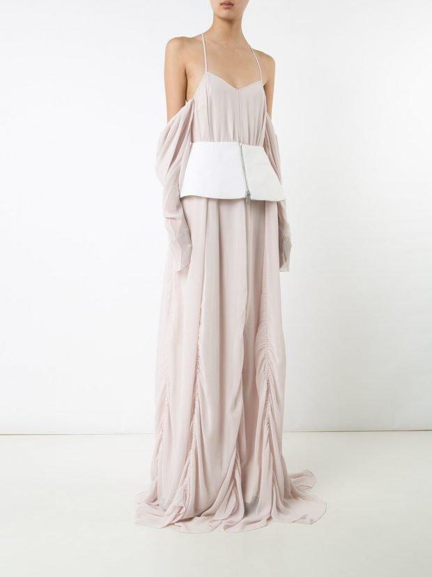 Модные вечерние платья: светлое