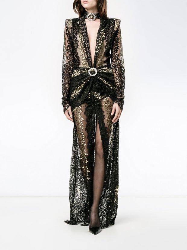 Модные вечерние платья: прозрачное