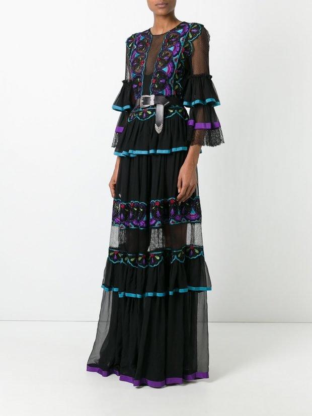 Модные вечерние платья: с оборками