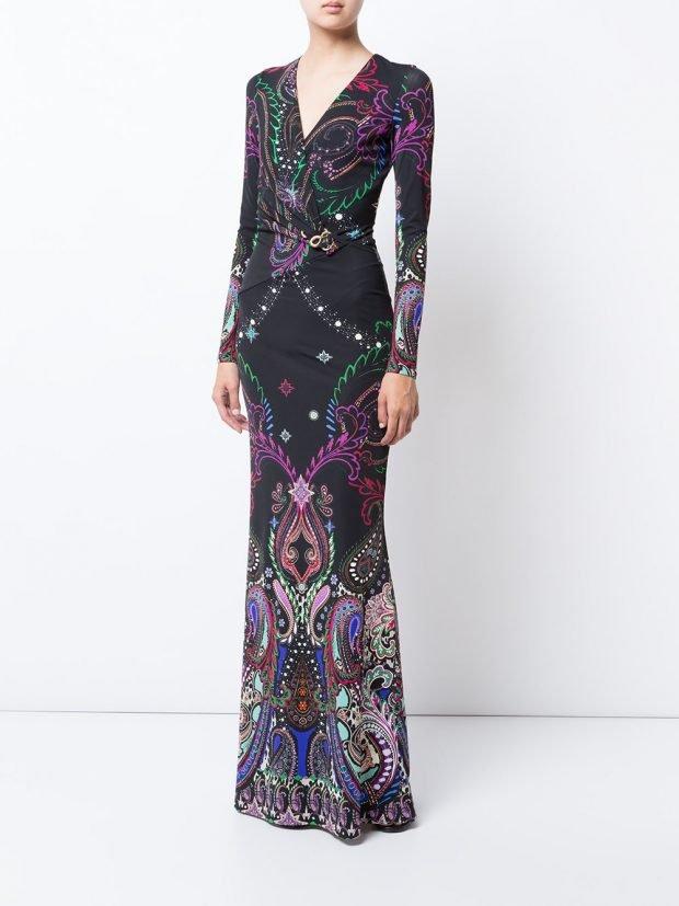 Модные вечерние платья 2020 2021: с узором