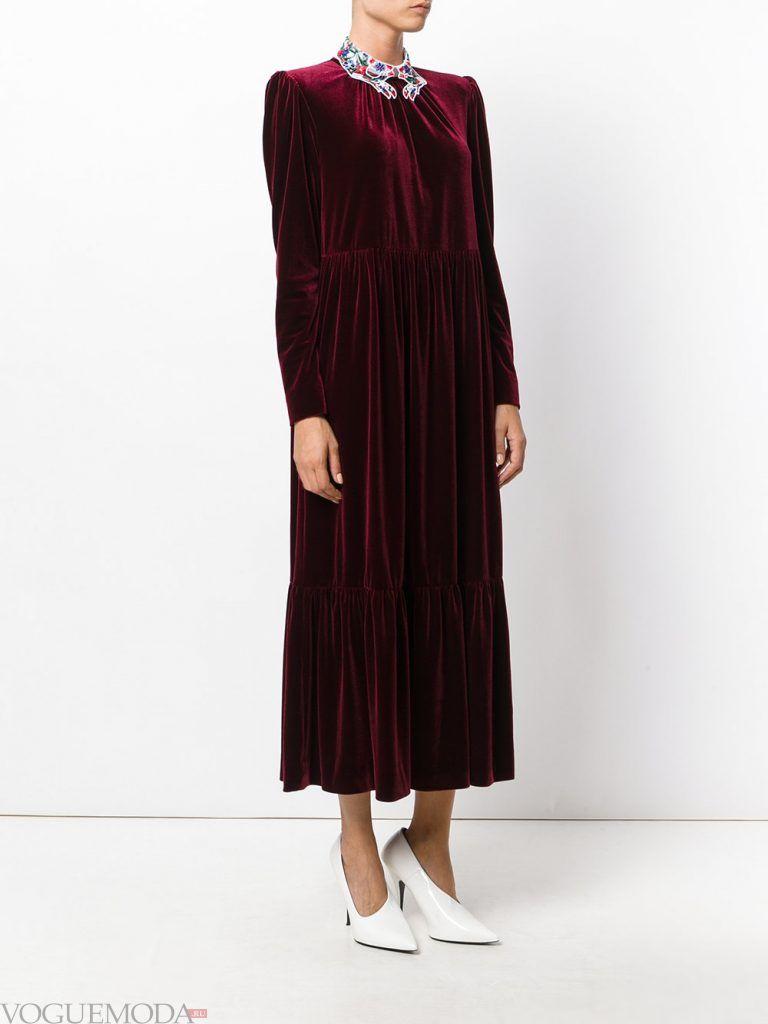 вечернее платье темное