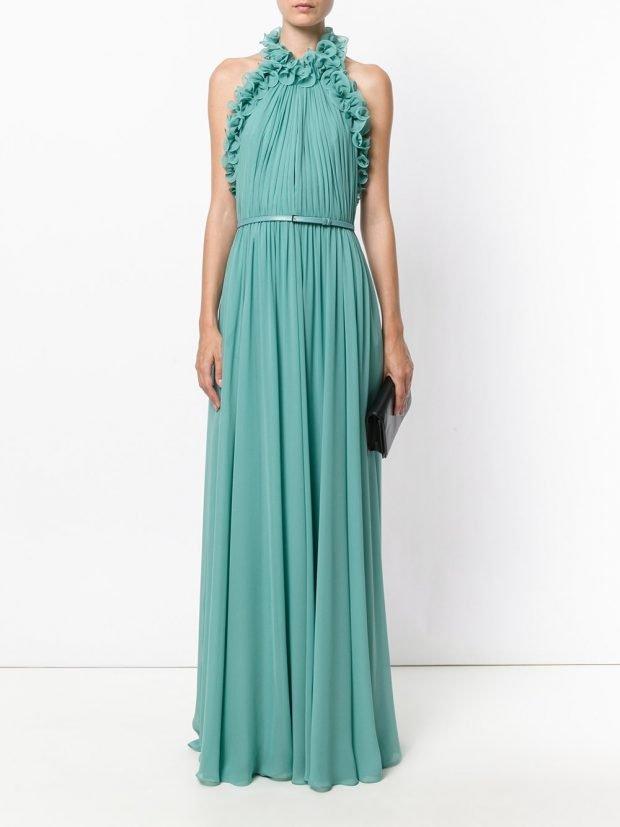 Модные вечерние платья: мятное