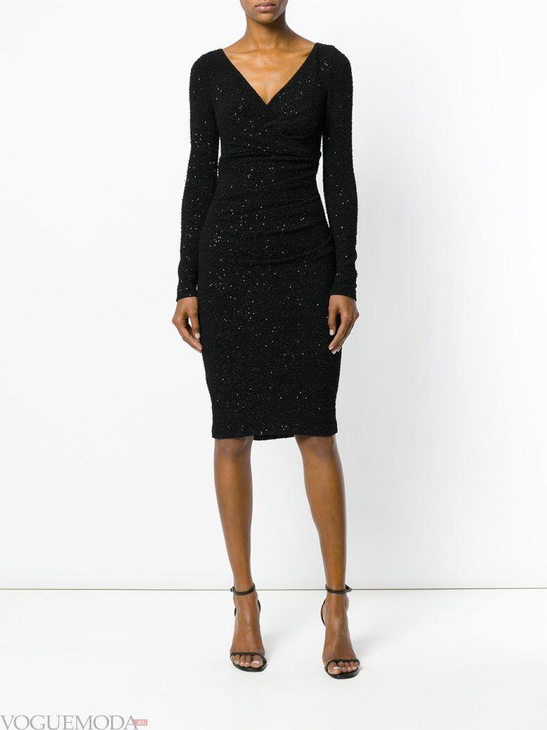 вечернее черное платье короткое